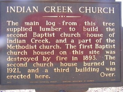 Indian Creek Church Marker - Old Version image. Click for full size.