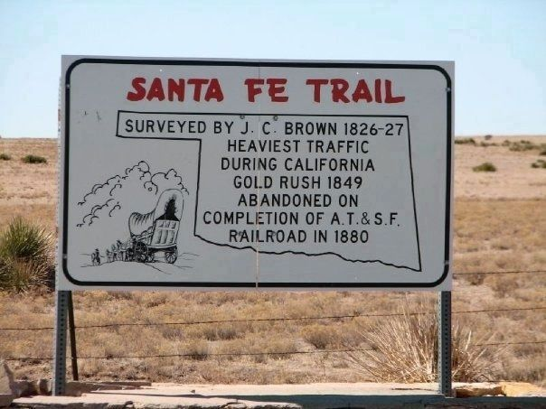Santa Fe Trail sign image. Click for full size.