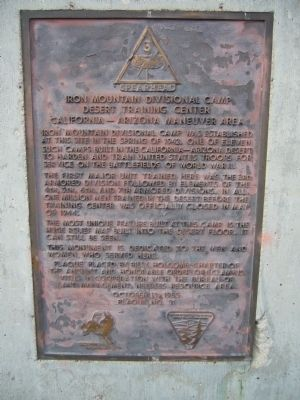 Iron Mountain Divisional Camp Marker image. Click for full size.