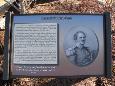 General Winfield Scott Marker image. Click for full size.