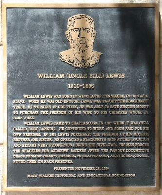 William (Uncle Bill) Lewis Marker image. Click for full size.