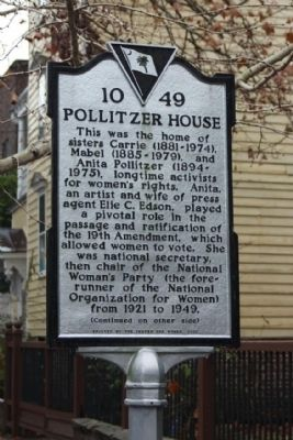 Pollitzer House Marker image. Click for full size.