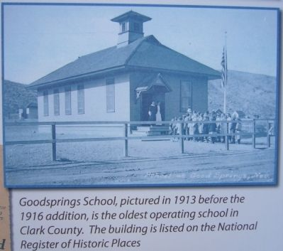 Photo of school on Good's Spring Marker image. Click for full size.