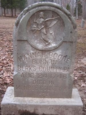 Hannah Boone Pennington Headstone image. Click for full size.