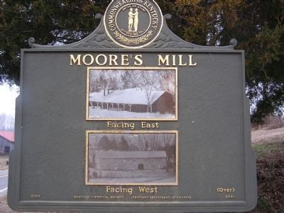 Moore's Mill Marker (reverse) image. Click for full size.