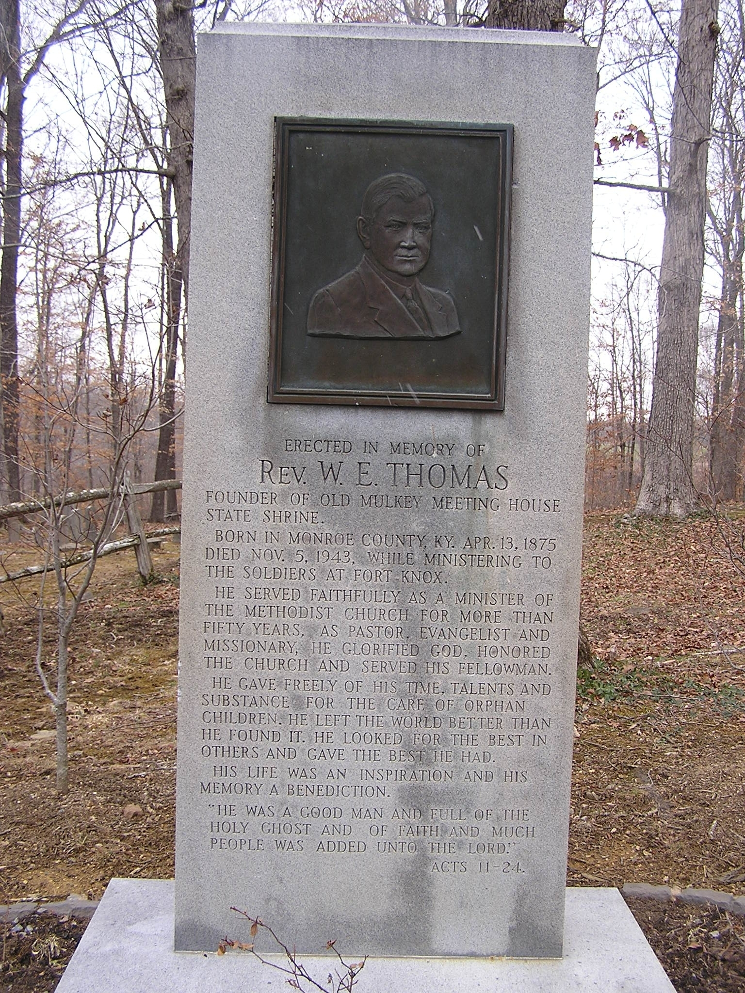 Rev. W. E. Thomas Marker