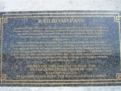 Railroad Pass Marker image. Click for full size.