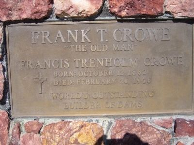 Frank T. Crowe Marker image. Click for full size.