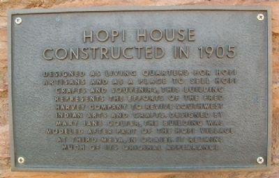 Hopi House Marker image. Click for full size.