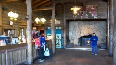 Bright Angel Lodge Lobby image. Click for full size.