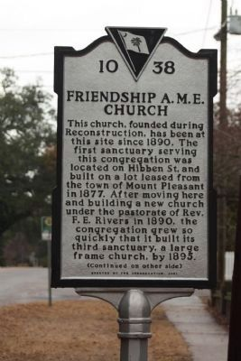 Friendship A.M.E. Church Marker image. Click for full size.