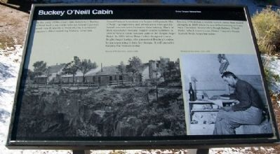 Buckey O'Neill Cabin Marker image. Click for full size.