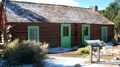 Buckey O'Neill Cabin and Marker image. Click for full size.