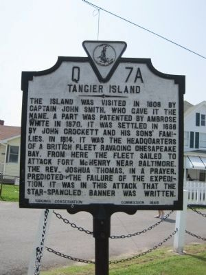 Tangier Island Marker image. Click for full size.