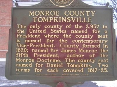 Monroe County - Tompkinsville Marker image. Click for full size.