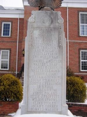 Monroe County World War I Monument image. Click for full size.