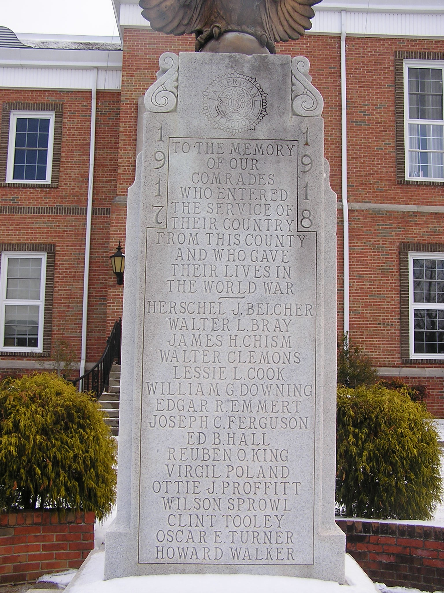 Monroe County World War I Monument