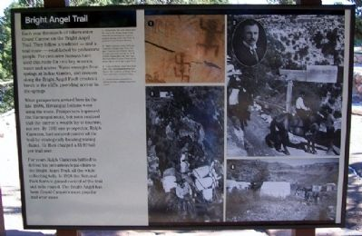 Bright Angel Trail Marker image. Click for full size.