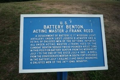 U.S. Battery Benton Marker image. Click for full size.