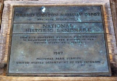 Santa Fe Depot National Historic Landmark Marker image. Click for full size.