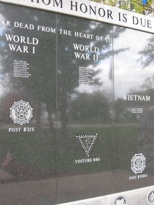 Close-Up of Honor Roll image. Click for full size.