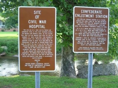 Red Boiling Springs Civil War Signs image. Click for full size.