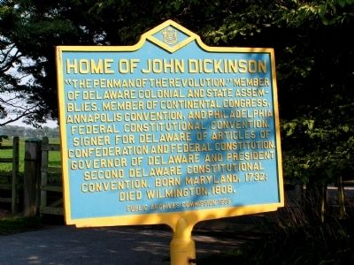 Home of John Dickinson Marker image. Click for full size.