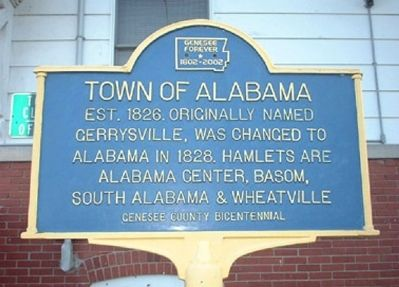 Town of Alabama Marker image. Click for full size.