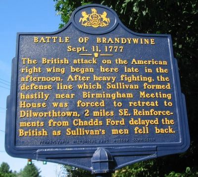 Battle of Brandywine Marker image. Click for full size.