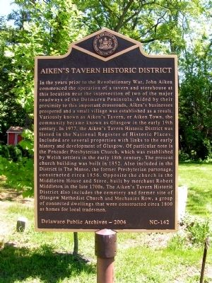 Aiken's Tavern Historic District Marker image. Click for full size.
