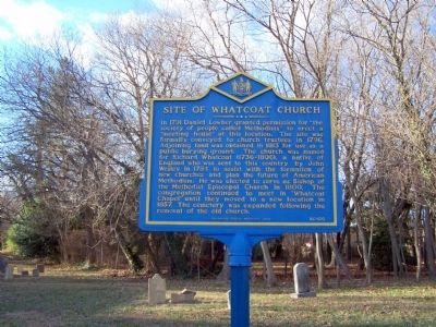 Site of Whatcoat Church Marker image. Click for full size.