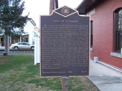 Town of Wyoming Marker image. Click for full size.