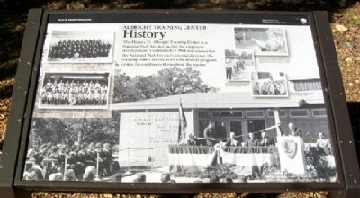 Albright Training Center History Marker image. Click for full size.