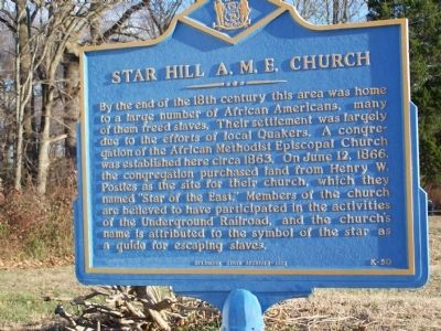 Star Hill A.M.E. Church Marker image. Click for full size.