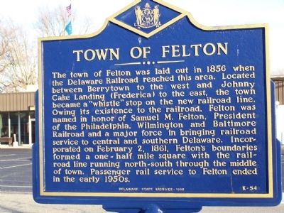 Town of Felton Marker image. Click for full size.
