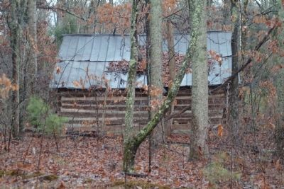 Old log cabin on the McLean property image. Click for full size.