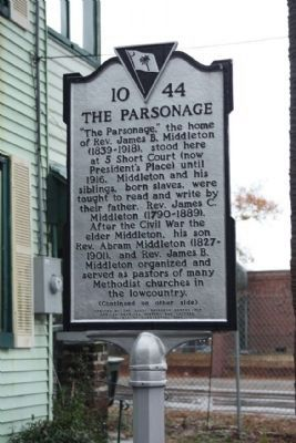 The Parsonage Marker image. Click for full size.