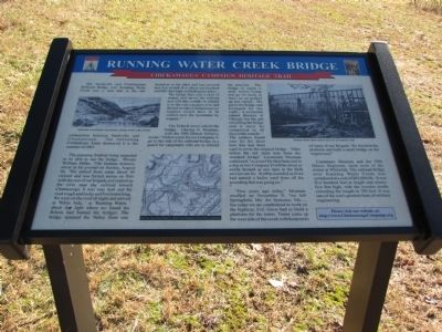 Running Water Creek Bridge Marker image. Click for full size.