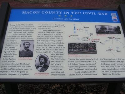 Macon County in the Civil War Marker image. Click for full size.