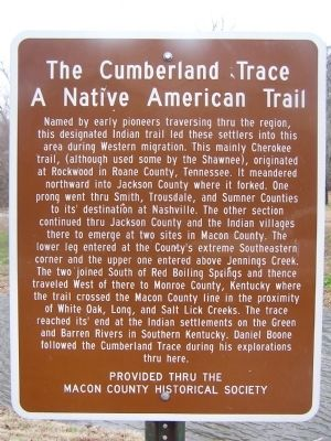 The Cumberland Trace Marker image. Click for full size.