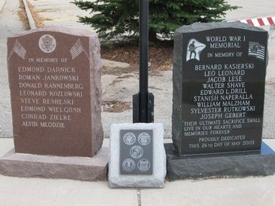 Princeton War Memorial Markers image. Click for full size.