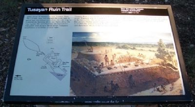 Tusayan Ruin Trail Marker image. Click for full size.