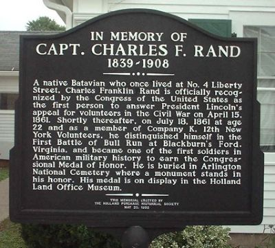 Capt. Charles F. Rand Marker image. Click for full size.
