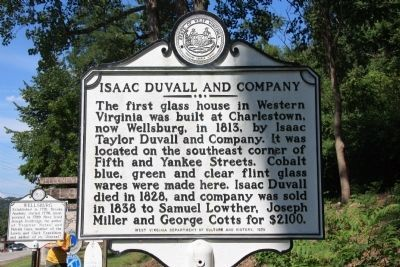Isaac Duvall and Company Marker image. Click for full size.