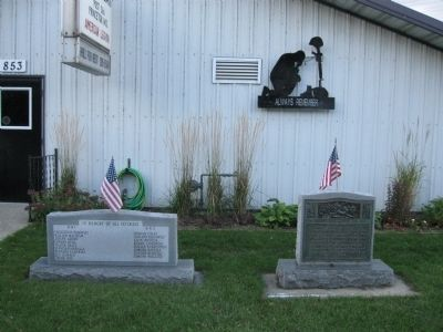 American Legion Post 366 War Memorial Markers image. Click for full size.