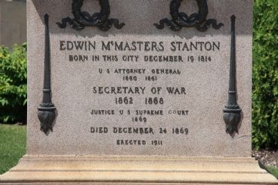 Edwin McMasters Stanton Monument image. Click for full size.