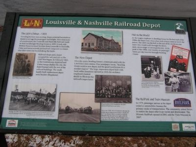 Louisville & Nashville Railroad Depot Marker image. Click for full size.