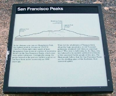San Franciso Peaks Marker image. Click for full size.