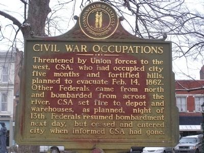 Civil War Occupations Marker image. Click for full size.