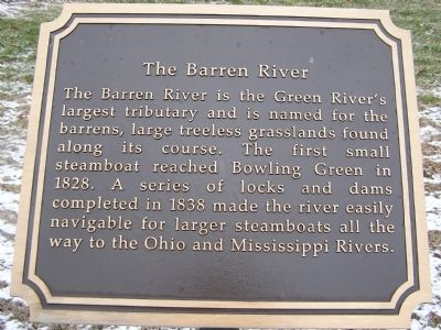 The Barren River Marker image. Click for full size.